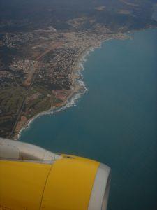 Kilátás a Vueling egyik járatáról